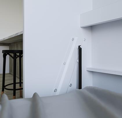 smartbett schrankbett basic 120x200 horizontal weiss weiss hochglanzf 989 95. Black Bedroom Furniture Sets. Home Design Ideas