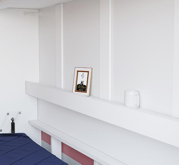 smartbett schrankbett basic 120x200 horizontal weiss mit gasdruckfede 879 95. Black Bedroom Furniture Sets. Home Design Ideas