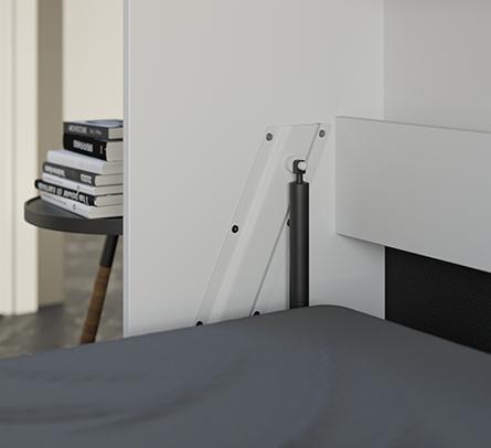 smartbett schrankbett standard 120x200 horizontal weiss anthrazit mit 879 95. Black Bedroom Furniture Sets. Home Design Ideas